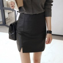 [PRE-ORDER] Women Sexy High Waist Slim Fit PU Leather Skirt