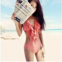 [PRE-ORDER] Women Sexy Lotus Leaf Bikini Swimsuit
