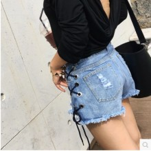 [PRE-ORDER] Women Korean Design Straps Jeans Shorts