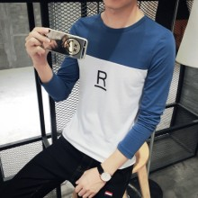 [PRE-ORDER] Men R Letters Two Color Long Sleeve T Shirts