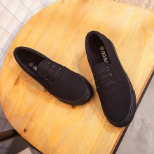 [PRE-ORDER] Men Couple Women Pure Black Casual Canvas Shoes