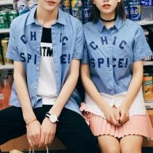 [PRE-ORDER] Men Couple Letters Short Sleeve T-shirt
