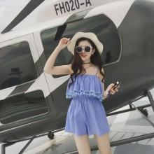 [PRE-ORDER] Women Sleeveless Lotus Leaf Tassel Dress