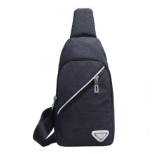[PRE-ORDER] Men Zipped Canvas Chest Pack Bag
