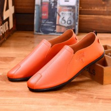 [PRE-ORDER] Men Casual Color PU Slip on Shoes