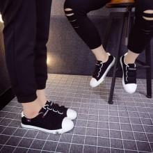 [PRE-ORDER] Men Women Korean Couple Velcro Design Canvas Shoes