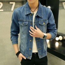 [PRE-ORDER] Men Plus Size XXXL Long Sleeve Jeans Denim Biker Jacket