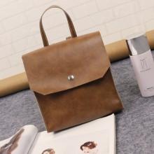 [PRE-ORDER] Women PU Leather Basic Casual Backpack