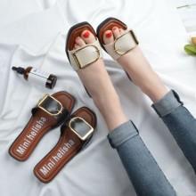 [PRE-ORDER] Women Buckle Design Slippers Sandals Flip-Flop