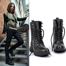 [PRE-ORDER] Women Cool Biker Martin Lacing Up Boots