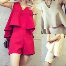 [PRE-ORDER] Women Two Pieces One Set Top Singlet + Short Pants