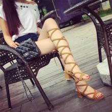 [PRE-ORDER] Women Rome Straps High Heels Sandals Boots
