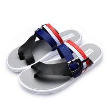 [PRE-ORDER] Men Two Buckles Colors Sandals Flip-Flops