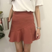 [PRE-ORDER] Women High Waist Fish Tail Plain Color Office Skirts