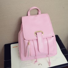 [PRE-ORDER] Women Pu Leather Tassel Student Backpack