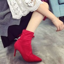 [PRE-ORDER] Women Suede Pointed Head Ankle Boots