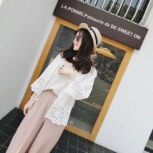 [PRE-ORDER] Women Casual Lace Pure White Cardigan