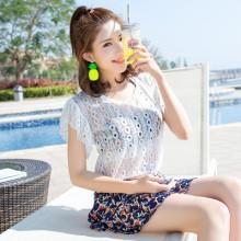 [PRE-ORDER] Women 3 Pieces 1 Set Lace Blouse Cute Swimsuit