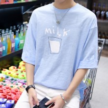 [PRE-ORDER] Men Japanese Style Cute Milk Short Sleeve T-Shirt