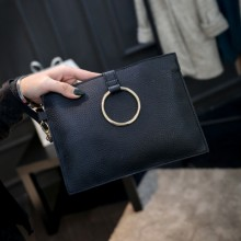 [PRE-ORDER] Women PU Leather Ring Envelope Handbag Sling Bag