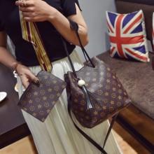 [READY STOCK] Women 2 in 1 Classic Printed Tassel Shoulder Sling Bag
