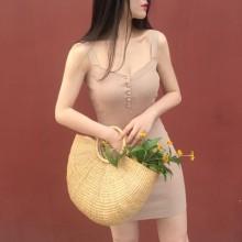 [PRE-ORDER] Women Retro Korean Summer Knit Singlet Dress
