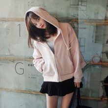 [PRE-ORDER] Women Fall Winter Hooded Cardigan Jacket Thick Sweater