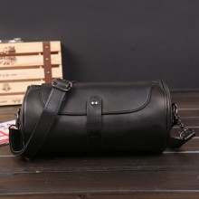 [PRE-ORDER] Men Korean PU Leather Retro Small Cylinder Bag