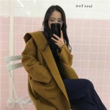 [PRE-ORDER] Women Autumn Winter Hooded Long-sleeved Cardigan Coat