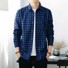 [PRE-ORDER] Men Plus Size XXXXL Casual Plaid Velvet Long-sleeved Shirt