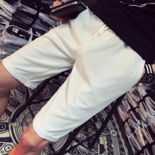 [PRE-ORDER] Men Plus Size XXXXXL Striped Casual Outing Elastic Short Pants