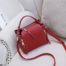 [PRE-ORDER] Women Korean Bucket Shoulder Sling Zipper Messenger Bag