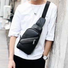 [PRE-ORDER] Men PU Leather Small Business Ipad Chest Casual Shoulder bag