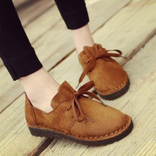 [PRE-ORDER] Women Suede Retro Lace Casual England College Shoes