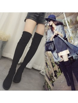 [PRE-ORDER] Women Cashmere Knee High Elastic Boots
