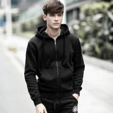 [PRE-ORDER] Men Plain Black Hoodie Jacket