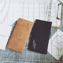 [PRE-ORDER] Men Korean Scrub Retro Long Wallet