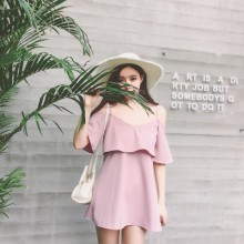 [PRE-ORDER] Women Sling Off Shoulder Dress