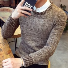 [PRE-ORDER] Men Kinitted Round Neck Long Sleeve Sweater